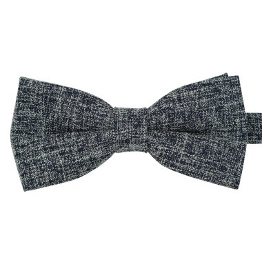Noeud papillon homme Bleu marine tweed chiné