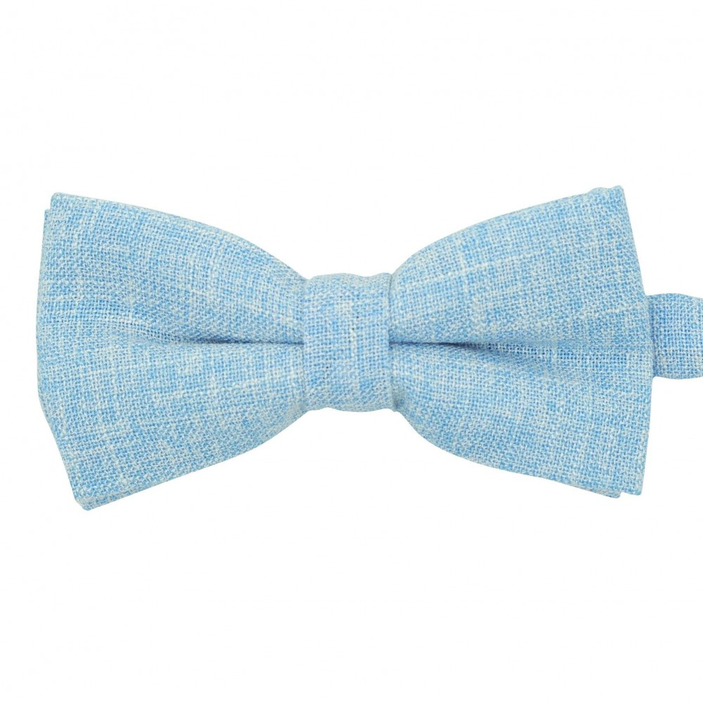 Noeud papillon homme Bleu ciel tweed chiné