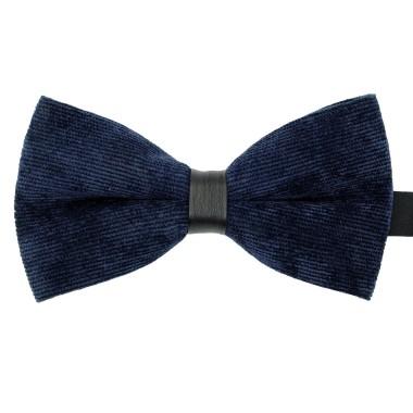 Noeud papillon homme en velours côtelé Bleu marine