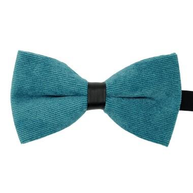 Noeud papillon homme en velours côtelé Bleu canard