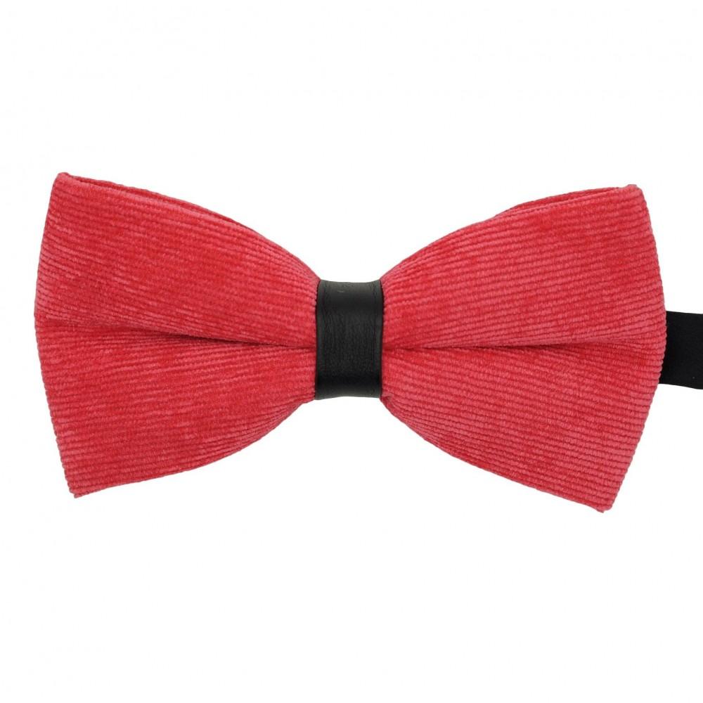 Noeud papillon homme en velours côtelé Rouge pâle