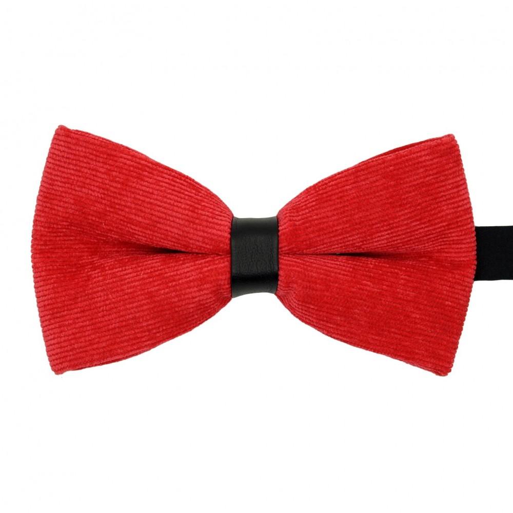 Noeud papillon homme en velours côtelé Rouge vif