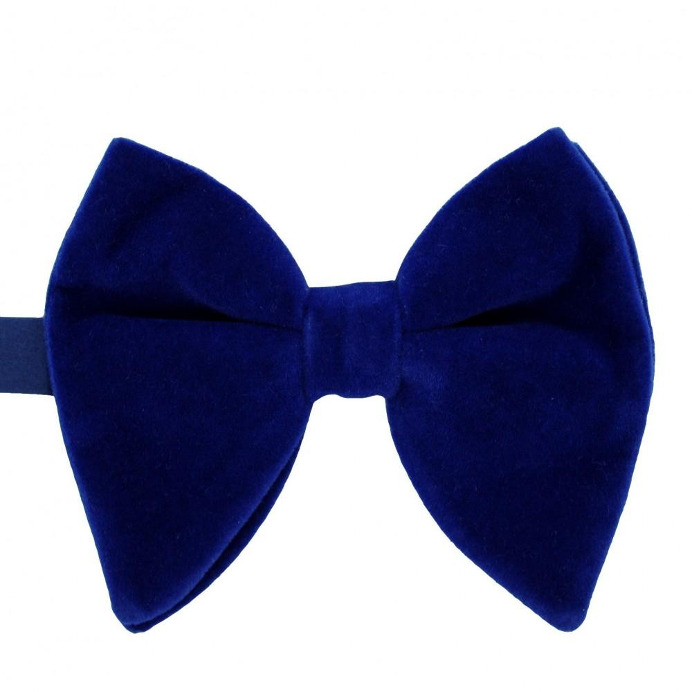 Noeud papillon homme en velours surdimensionné Bleu