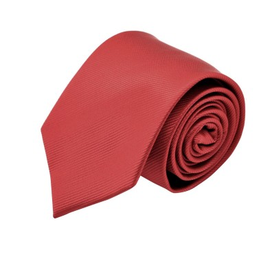 Cravate Homme Attora. Rouge clair strié.