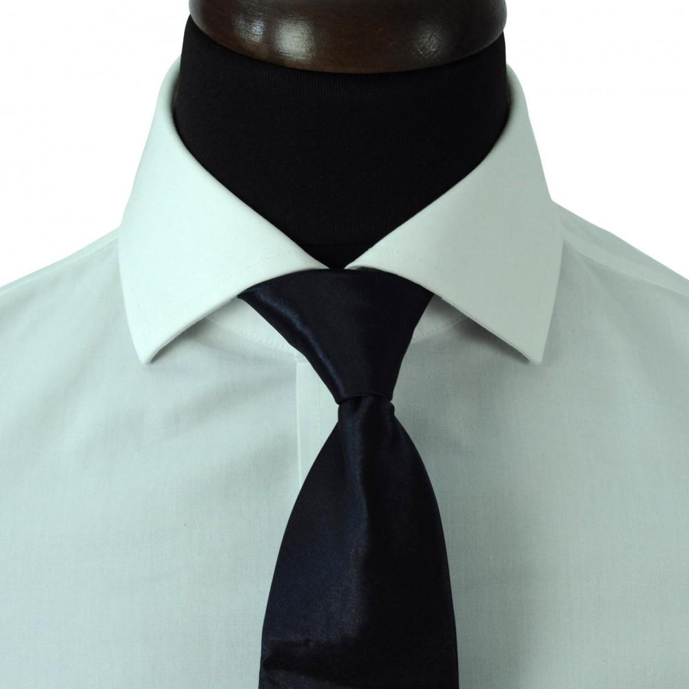 Cravate Enfant Bleu marine uni. Pomme Carré