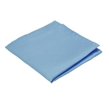 Pochette de costume. Bleu lavande uni.