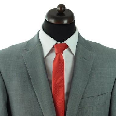 Cravate Slim homme rouge striée. Attora.
