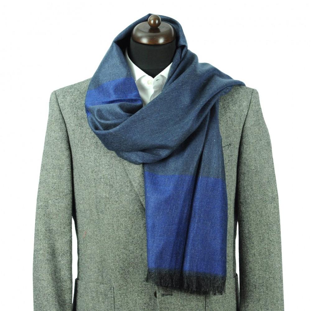 Foulard pour homme bicolore. Bleu roi