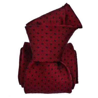 Cravate de Luxe 6-Plis. Bordeaux à petits motifs