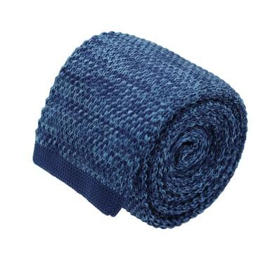 Cravate tricot homme chinée. Bleu roi