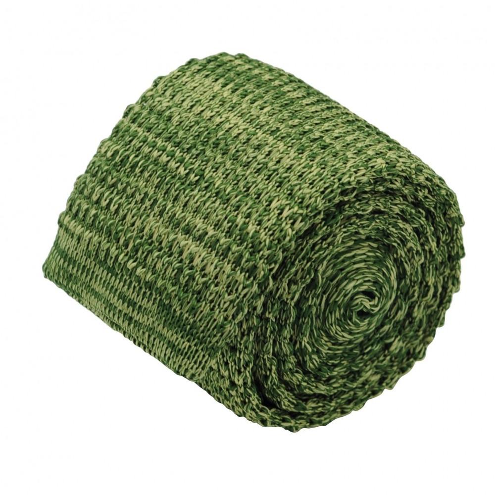 Cravate tricot homme chinée. Vert clair