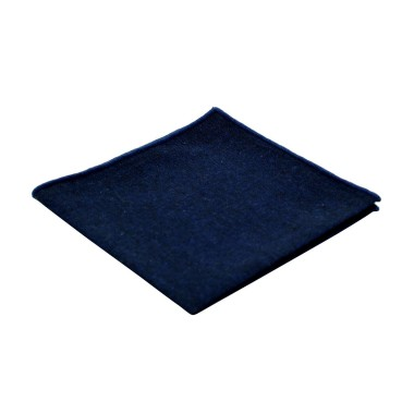 Pochette de costume homme. Bleu marine à liseret bleu