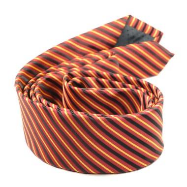 Cravate Attora. Multicolore à rayures. slim, étroite.