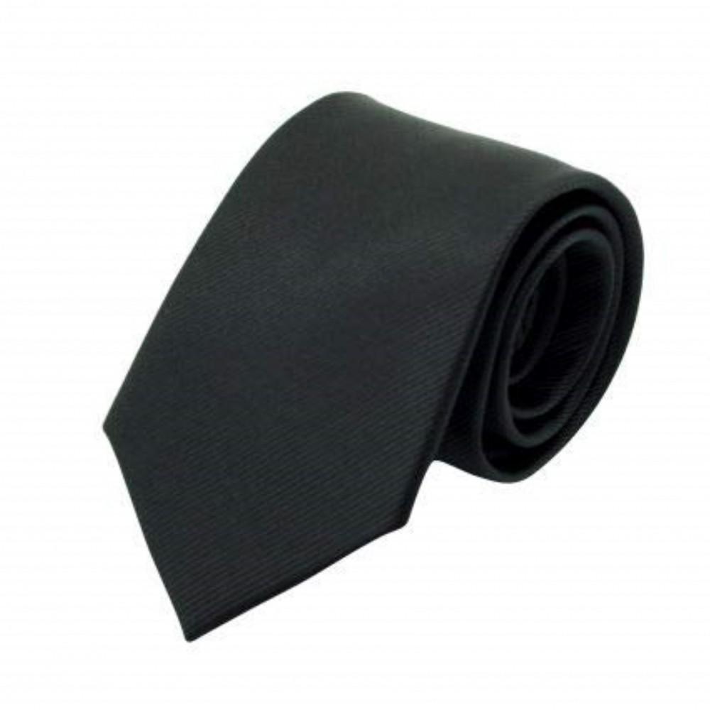 Attora - Cravate Classique Homme. Strié Noir