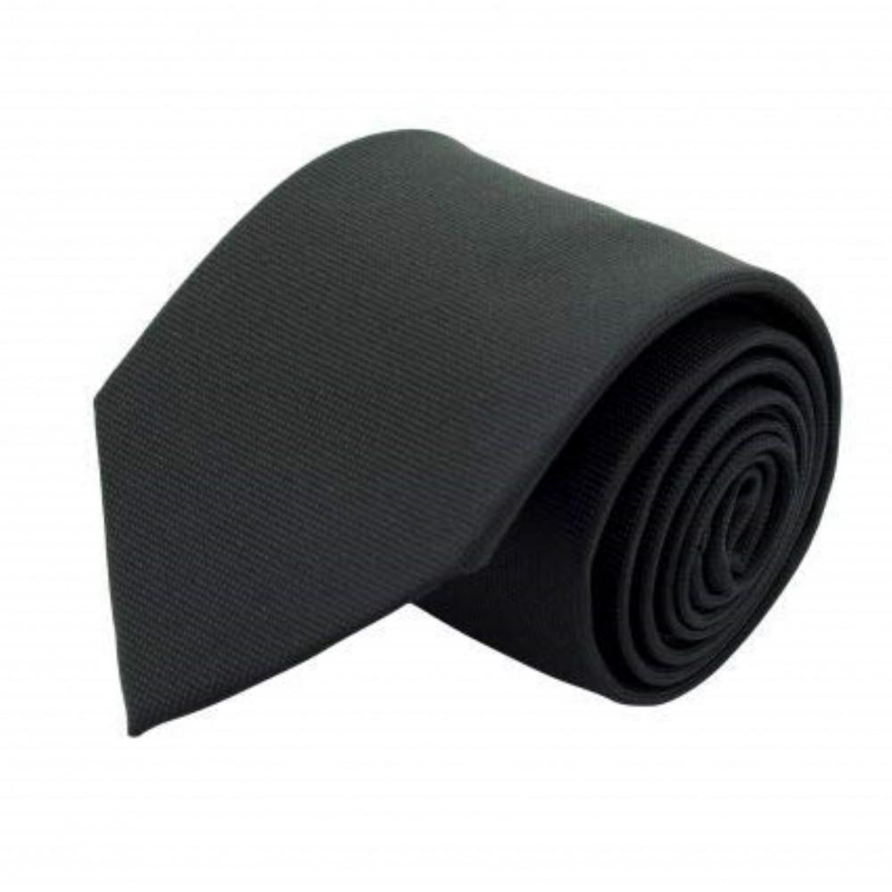 Attora - Cravate Classique Homme. Très fin quadrillage Noir