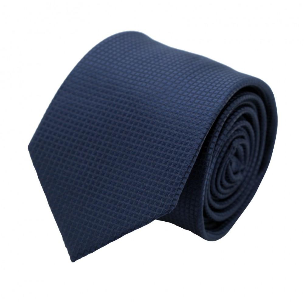Cravate Classique Homme. Bleu Marine à Quadrillage