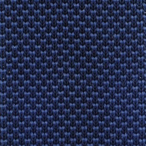 Cravate tricot pour homme. Bleu Marine. Slim et bout carré.