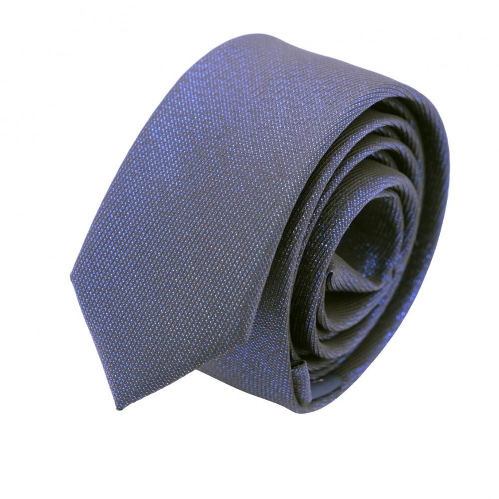 Cravate Slim Homme effet Brilliant. Bleu Marine