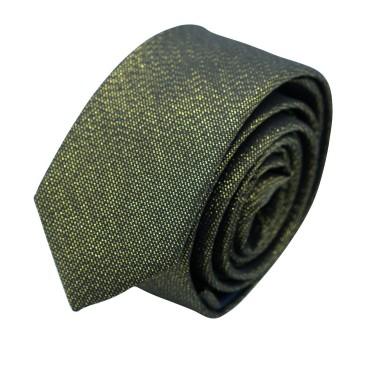 Cravate Slim Homme effet Brilliant. Jaune Or
