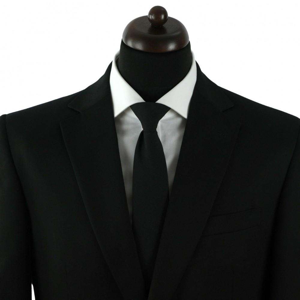 Cravate sécurité à clip anti-étranglement. Noir