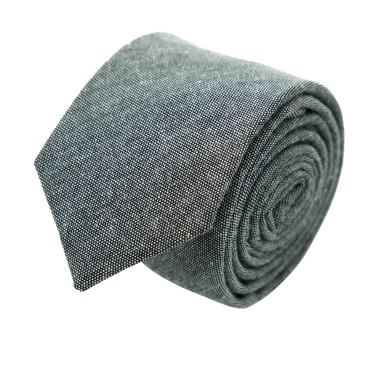 Cravate Slim Homme Coton/Lin Grise