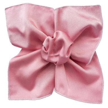Pochette de costume made in Italie. Rose uni